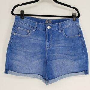 Justice | Denim Rolled Cuff Shorts - Size 20 plus